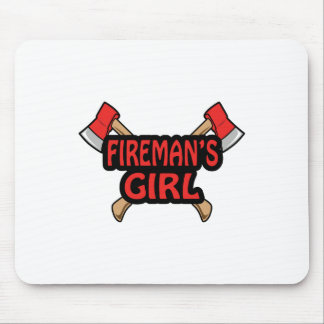 FIREMANS GIRL MOUSE PAD