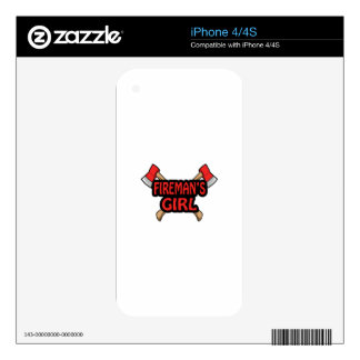 FIREMANS GIRL SKIN FOR THE iPhone 4
