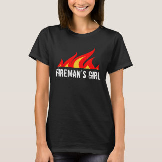 Fireman's girl t shirt for wife or girlfriend