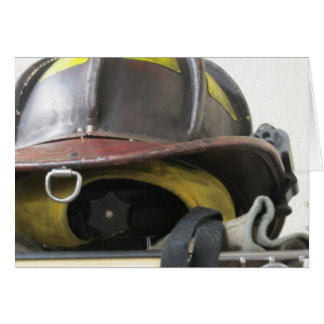 Fireman's helmet card