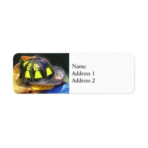 Fireman's Helmet on Uniform Labels