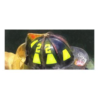 Fireman's Helmet on Uniform Rack Card