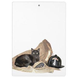 Fireman's kitty clipboard