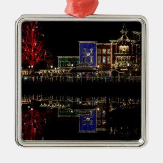 Firemans Landing Christmas Metal Ornament