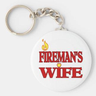 Fireman's Wife Basic Round Button Keychain