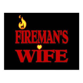 Fireman's Wife Postcard