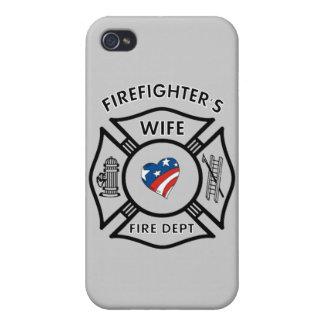 Fireman's Wife USA iPhone 4 Covers