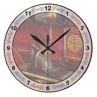 Firemen - An elegant job Large Clock