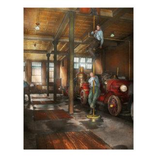 "Firemen - Answering the firebell 1922 8.5"" X 11"" Flyer"