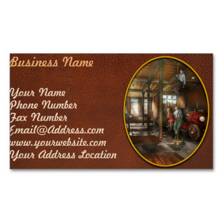 Firemen - Answering the firebell 1922 Magnetic Business Card