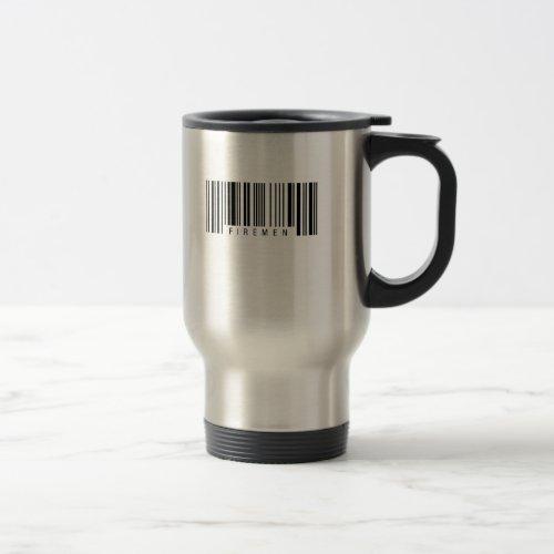 Firemen Barcode Travel Mug