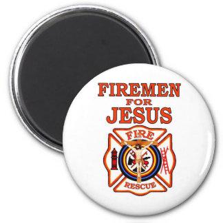 FIREMEN FOR JESUS 2 INCH ROUND MAGNET