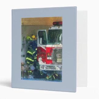 Firemen - Inside the Fire Station 3 Ring Binder