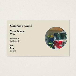 Firemen - Inside the Fire Station Business Card