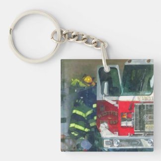 Firemen - Inside the Fire Station Keychain