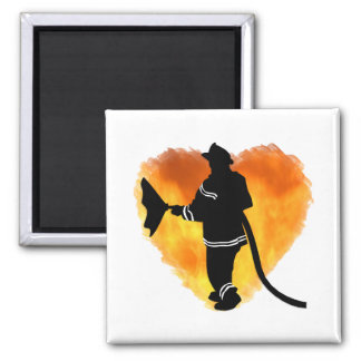 Firemen Love Flames Magnets