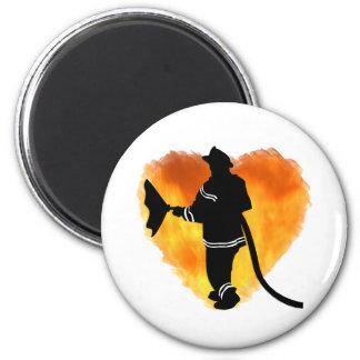 Firemen Love Flames Fridge Magnets