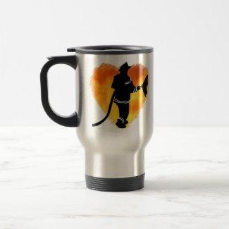 Firemen Love Flames mug