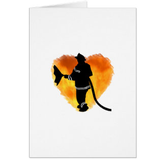 Firemen Love Flames Stationery Note Card