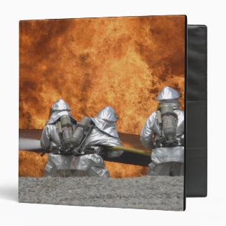 Firemen neutralize a fire vinyl binders