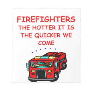 firemen note pads