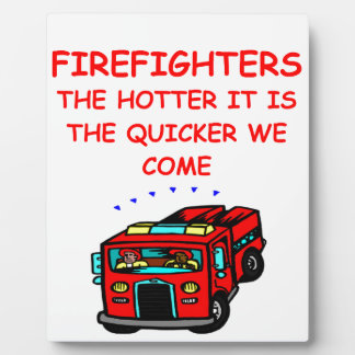 firemen display plaque