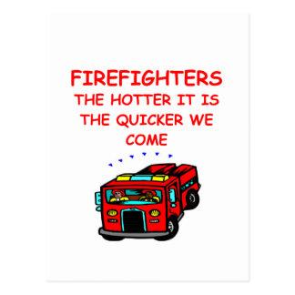 firemen post card