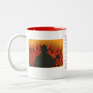 Firemen Prayer Inspirational Faith Rescue Fire Two-Tone Coffee Mug