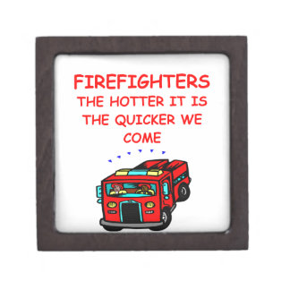firemen premium trinket box