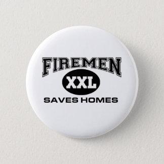 Firemen save homes pinback button