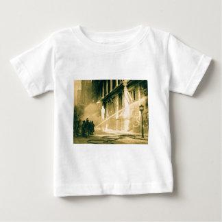 Firemen Spraying Building Pine Street New York Baby T-Shirt