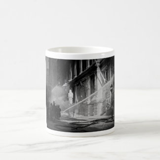 Firemen Spraying Building Pine Street New York Coffee Mug