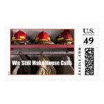 Firemen still make house calls postage stamps