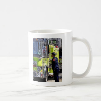 Firemen Talking Coffee Mug