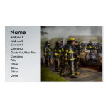 Firemen - The fire demonstration Double-Sided Standard Business Cards (Pack Of 100)