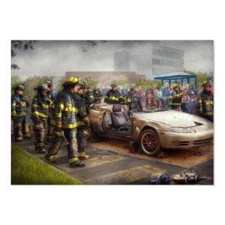 Firemen - The fire demonstration Card