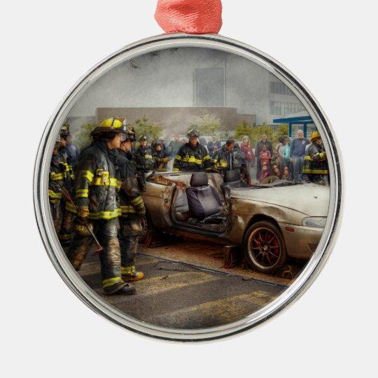 Firemen - The fire demonstration Metal Ornament