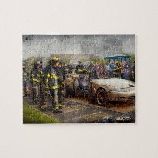 Firemen - The fire demonstration Jigsaw Puzzles