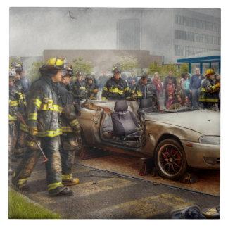 Firemen - The fire demonstration Tile