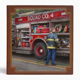 Firemen - The modern fire truck 3 Ring Binders