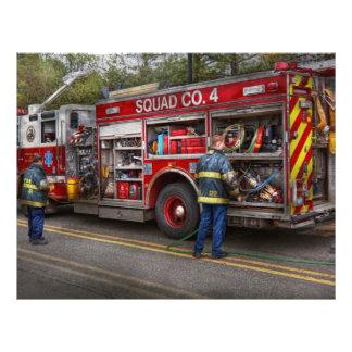 Firemen - The modern fire truck Custom Flyer