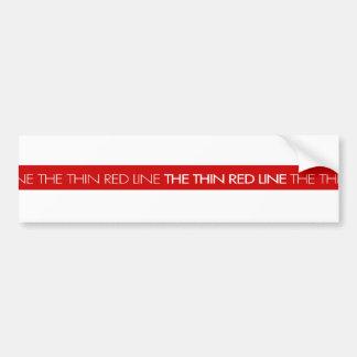 Firemen...The Thin Red Line Bumper Sticker