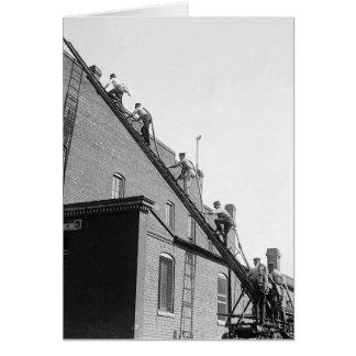 Firemen Training School, 1920 Card