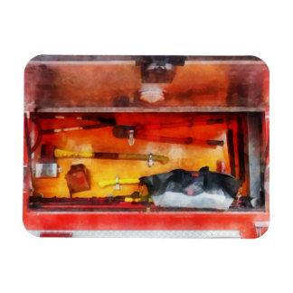 Firemen's Tools of the Trade Rectangular Photo Magnet