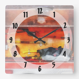 Firemen's Tools of the Trade Square Wall Clock