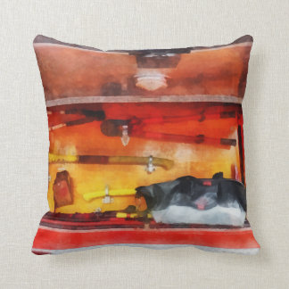 Firemen's Tools of the Trade Throw Pillow