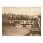 firenze antique postcard