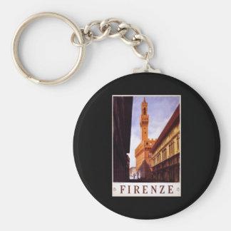 Firenze Basic Round Button Keychain
