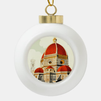 Firenze Ceramic Ball Christmas Ornament
