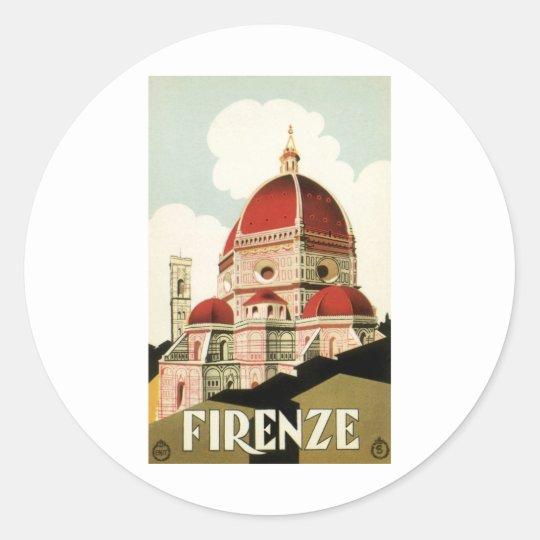 Firenze Classic Round Sticker